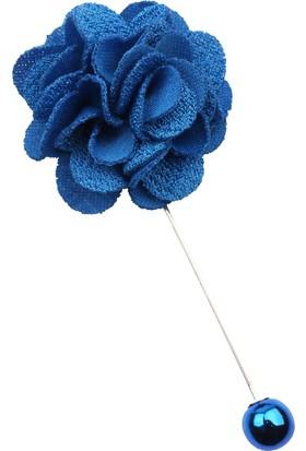 La Pescara Mavi Özel Tasarım Yaka Çiçeği Yc179