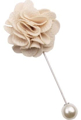 La Pescara Krem Özel Tasarım Yaka Çiçeği Yc180