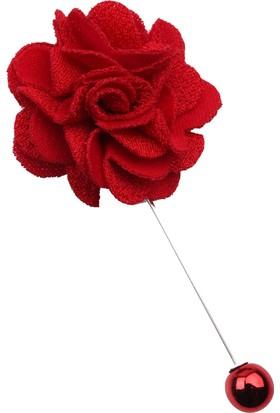 La Pescara Kırmızı Özel Tasarım Yaka Çiçeği Yc181