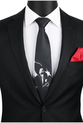 La Pescara Siyah Atatürk Kravatı Tr53