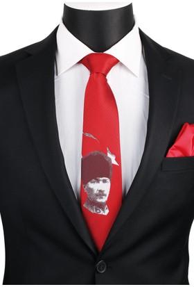 La Pescara Kırmızı Atatürk Kravatı Tr55