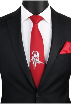 La Pescara Kırmızı Atatürk Kravatı Tr57