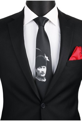 La Pescara Siyah Atatürk Kravatı Tr60