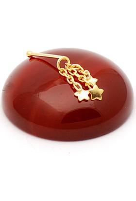 Sümer Telkari Pullu Yıldızlı Altın Yaldızlı Gümüş Hızma 262