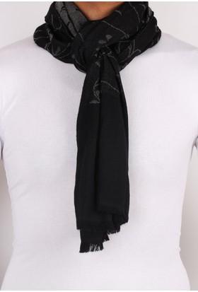 La Pescara Broome Style Siyah Yün Erkek Kaşkol K28