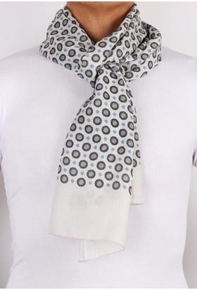 La Pescara Wooster Style Beyaz Viskon Erkek Kaşkol K08