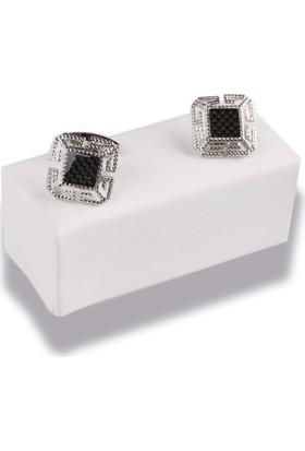 La Pescara Siyah - Gümüş Kol Düğmesi Kd486