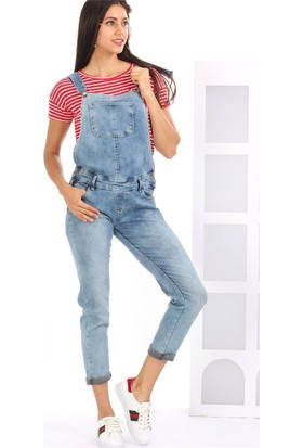 ZDN Jeans Kadın Denim Salopet SP-08