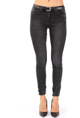 ZDN Jeans Kadın Normal Bel Antrasit Skinny Jean W1068