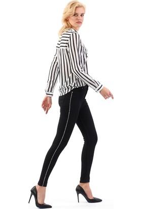 ZDN Jeans Kadın Normal Bel Skinny Siyah Jean W1083