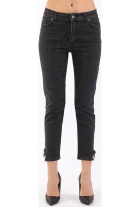 ZDN Jeans Kadın Normal Bel Antrasit Girlfriend Jean W1110