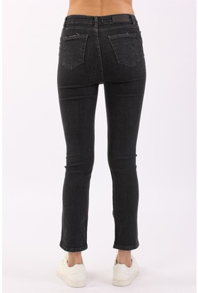 ZDN Jeans Kadın Normal Bel Antrasit İspanyol Jean W1116