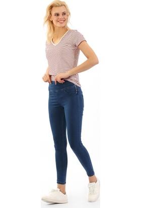 ZDN Jeans Kadın Yüksek Bel Orta Mavi Skinny Jean W559