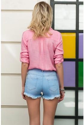 ZDN Jeans Kadın Düşük Bel Denim Şort W-S-027