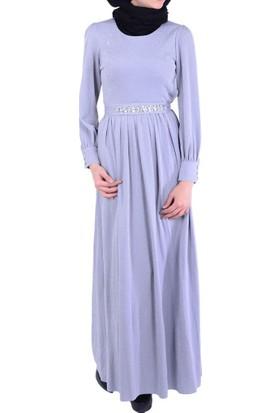 Stilife 4007 Kemeri Taşlı Elbise - 18-1B225003