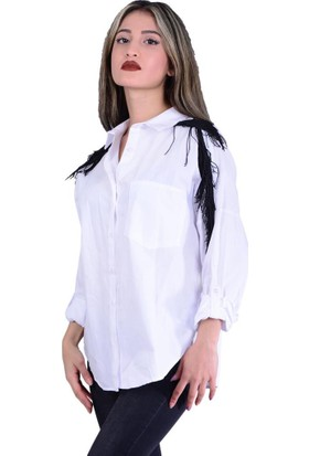 Quzu 10693 Omuz Detaylı Gömlek - 18-1B256002