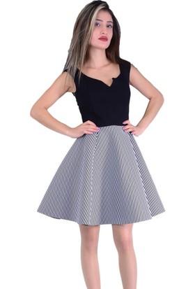 Gossip 2215 Çizgili Elbise - 18-1B616002