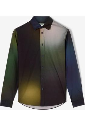 Kenzo Erkek Gömlek Yeşil F765CH4011KC