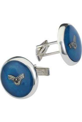 Anı Yüzük Astsubay Amblemli Gümüş Kol Düğmesi