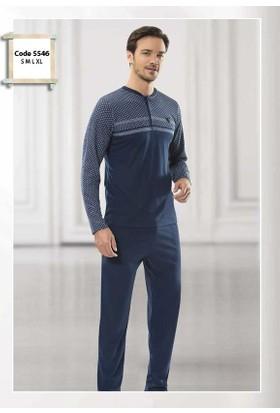 Poleren 5546 Erkek UzunKol Mevsimlik Pijama Takım