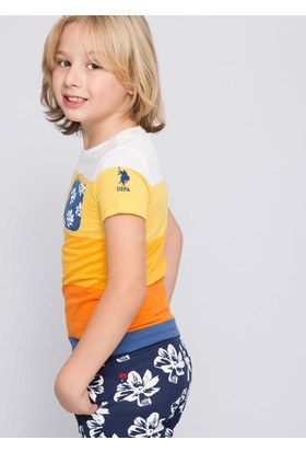 U.S. Polo Assn. Erkek Çocuk Punch T-Shirt Sarı