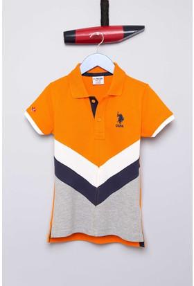 U.S. Polo Assn. Erkek Çocuk Jemery T-Shirt Turuncu