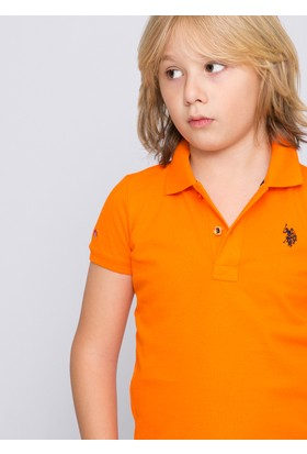 U.S. Polo Assn. Erkek Çocuk TP01IY7 T-Shirt Turuncu