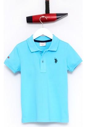 U.S. Polo Assn. Erkek Çocu TP01IY7 T-Shirt Turkuaz