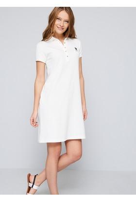 U.S. Polo Assn. Kadın Gurlin Elbise Beyaz