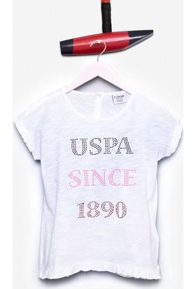 U.S. Polo Assn. Kız Çocuk Vasabi T-Shirt Beyaz