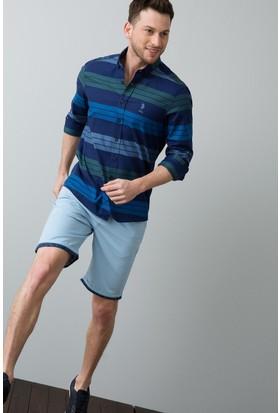 U.S. Polo Assn. Erkek Dante7Y-Ing Bermuda Mavi
