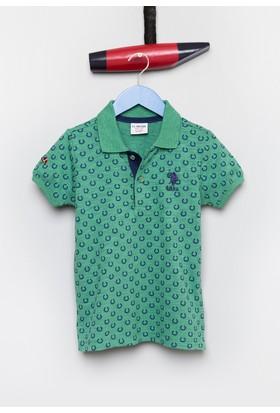 U.S. Polo Assn. Erkek Çocuk Stark T-Shirt Yeşil