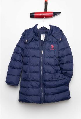 U.S. Polo Assn. Kız Çocuk Ez3141 Kaban Lacivert
