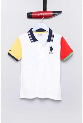U.S. Polo Assn. Erkek Çocuk Noble T-Shirt Beyaz