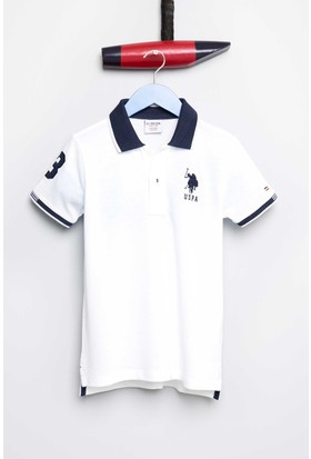 U.S. Polo Assn. Erkek Çocuk Esd01Iy7 T-Shirt Beyaz