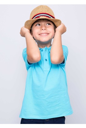 U.S. Polo Assn. Erkek Çocuk Etp01Iy7 T-Shirt Turkuaz
