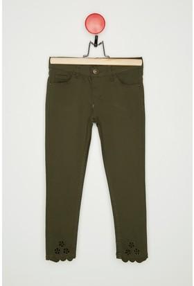Fullamoda Kız Çocuk İşlemeli Pantolon