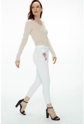 Fullamoda Nakışlı Pantolon
