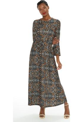 Fullamoda Desenli Elbise