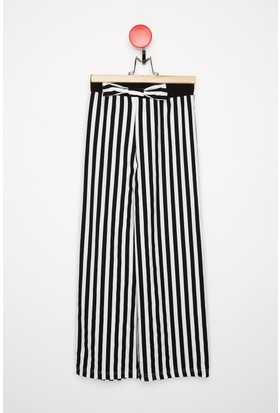 Fullamoda Kız Çocuk Çizgili Pantolon