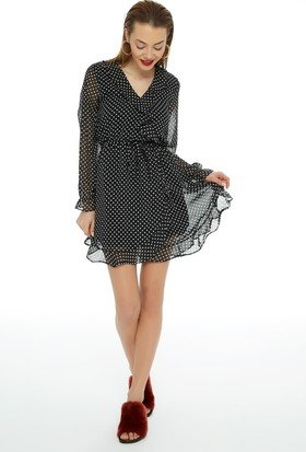 Fullamoda Puantiyeli Elbise