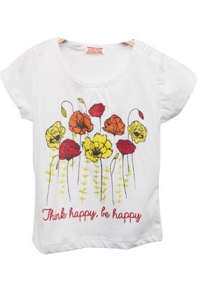 Zeyland Kız Çocuk Beyaz T-Shirt -81Kl2151