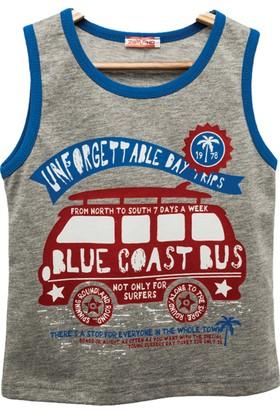 Zeyland Erkek Çocuk Gri - Melanj T-Shirt -81Kl3151
