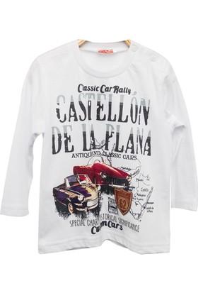 Zeyland Erkek Çocuk Beyaz T-Shirt -81Kl3162