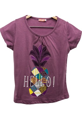 Zeyland Kız Çocuk Lila T-Shirt -81Kl4151