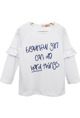 Zeyland Kız Çocuk Beyaz Sweat Shirt -81Kl4161