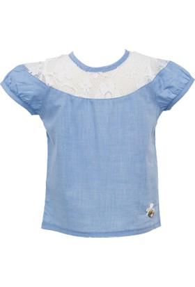 Zeyland Kız Çocuk Mavi Gömlek -81M2Dfn81