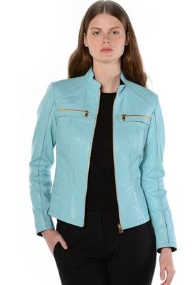 Deriderim J-1 Kadın Mavi Ceket