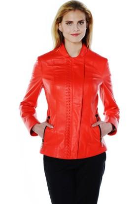 Deriderim K-1335 Kadın Kırmızı Ceket