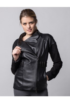 Deriderim K-18327 Kadın Siyah Ceket